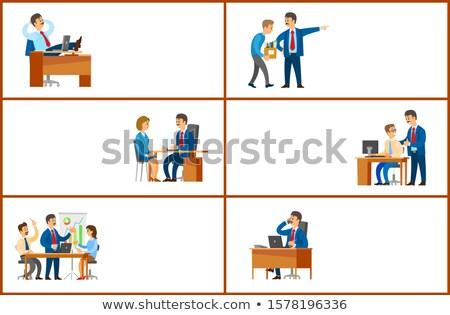 Dolgozik rendelés állás megbeszélés jelentés jó Stock fotó © robuart