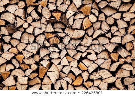 száraz · aprított · tűzifa · köteg · közelkép · fa - stock fotó © marylooo