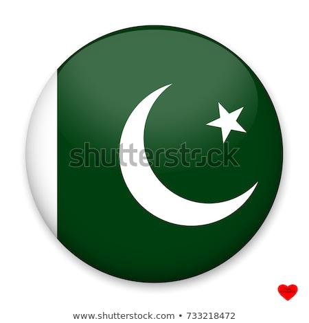 Matrica terv Pakisztán zászló illusztráció háttér Stock fotó © colematt