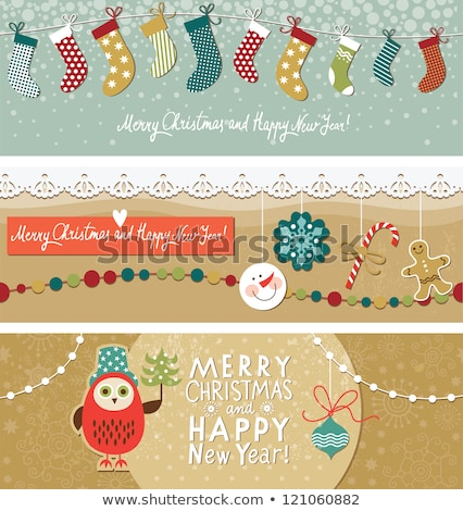 set of horizontal banners about candy stock photo © netkov1