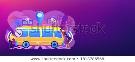 Toplu taşıma afiş gibi Stok fotoğraf © RAStudio