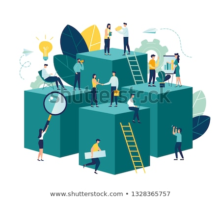 Career development vector creative concept illustration. Stock photo © RAStudio