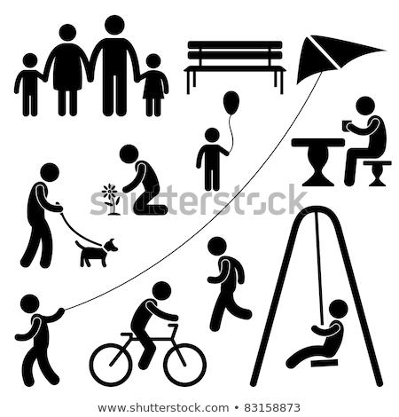 recreatie · park · illustratie · cartoon · stedelijke · groene - stockfoto © robuart