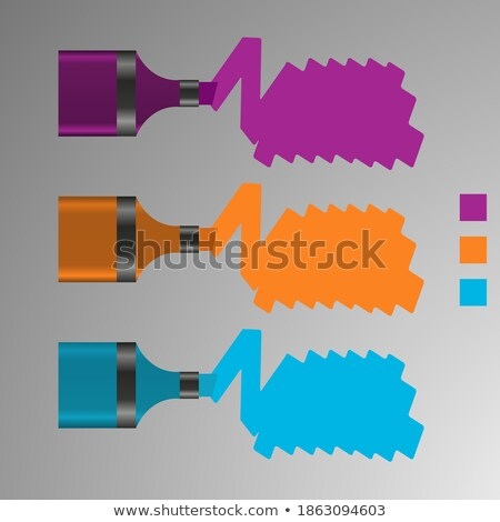 Grunge kör diagram ikon terv három Stock fotó © kyryloff