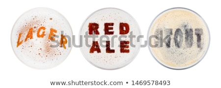 Glasses of red ale stout and lager beer letters Stock photo © DenisMArt