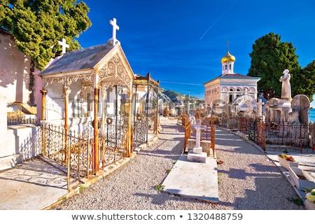 kerk · oude · kerkhof · gras · god · toren - stockfoto © xbrchx