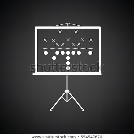 americano · futebol · treinador · ícone · laranja · preto - foto stock © angelp