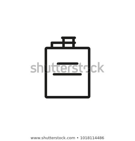 Kolben Symbol Schablone Design Web Stock foto © angelp