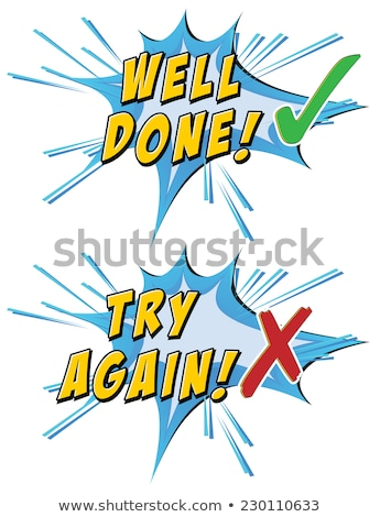 Try again and well done Stock photo © colematt