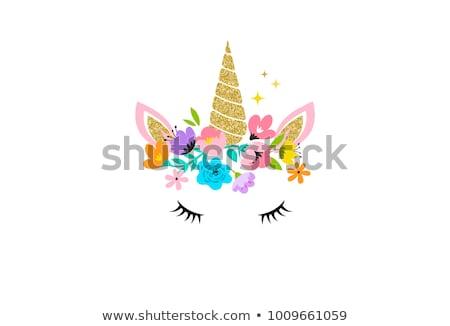 Cute unicorn baby Stock photo © liolle