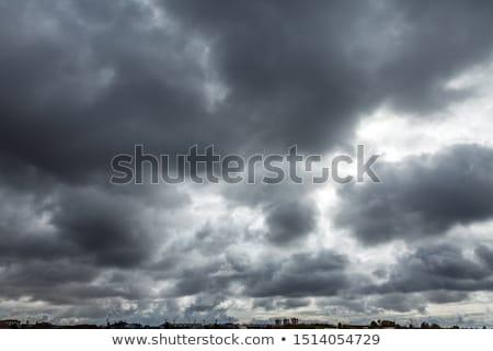 Onweersbui nacht urban scene illustratie stad natuur Stockfoto © colematt