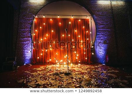 boş · konser · sahne · beyaz · ışık - stok fotoğraf © unweit