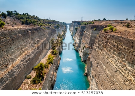 Corinth Canal, Greece Stock photo © borisb17