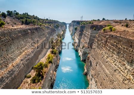 canal · Grecia · naturaleza · paisaje · mar - foto stock © borisb17