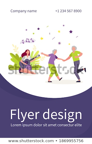 Stockfoto: Dansen · oude · paar · jonge · senior · mensen · vector
