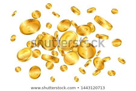 Pound altın madeni patlama yalıtılmış beyaz para Stok fotoğraf © olehsvetiukha