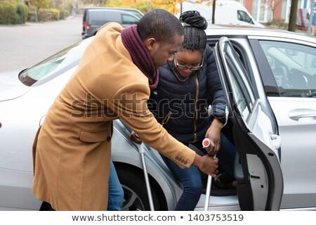 человека помогают инвалидов жена из автомобилей Сток-фото © AndreyPopov