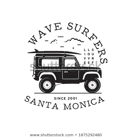 Stock fotó: Vintage Surf Logo Print Design For T Shirt And Other Uses Wave Surfers Typography Quote Calligraphy