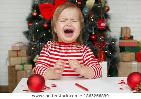 kırmızı · çanta · ayakta · tek · başına · beyaz · Noel - stok fotoğraf © nyul