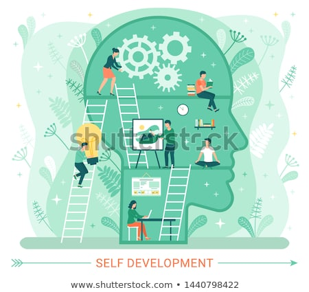 Self Development, Profile Human Head with People Stock photo © robuart