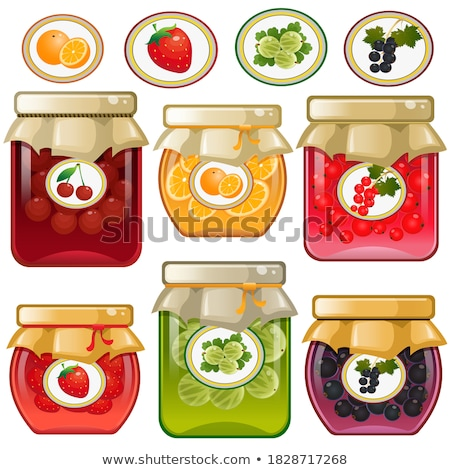 Preserved Food Fruits Set Vector Illustration Stock photo © robuart
