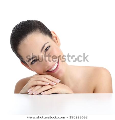 Manikűr kezek fürdő gyönyörű nő puha bőr Stock fotó © serdechny