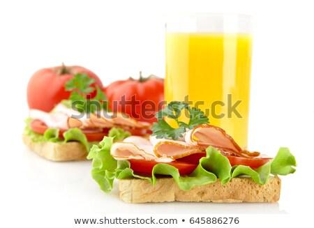 冷たい ランチタイム オレンジジュース 白 葉 オレンジ ストックフォト © dla4