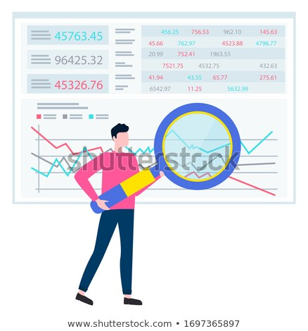 graph report counting finance worker vector stock photo © robuart