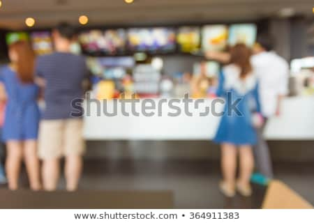 Cafe Restaurant Interior, Table with Fast Food Stock photo © robuart