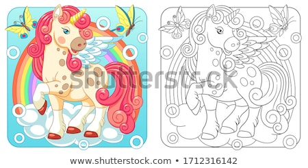 Set of Posters with Cartoon Colorful Butterflies Stock photo © robuart