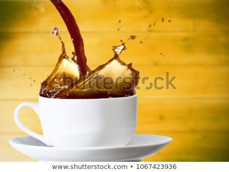 кофе белый Кубок желтый древесины Сток-фото © wavebreak_media