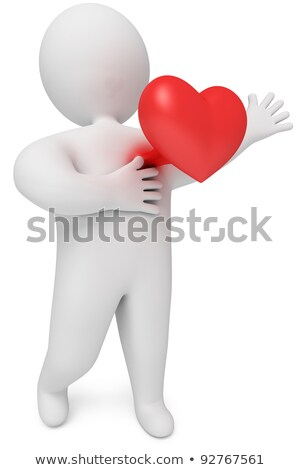 Stock photo: 3D Small People - We Love You