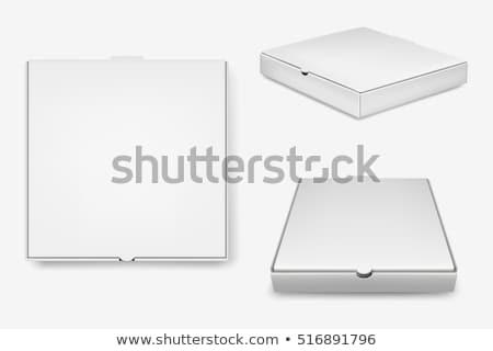 Branco caixa de pizza modelo comida projeto Foto stock © bborriss