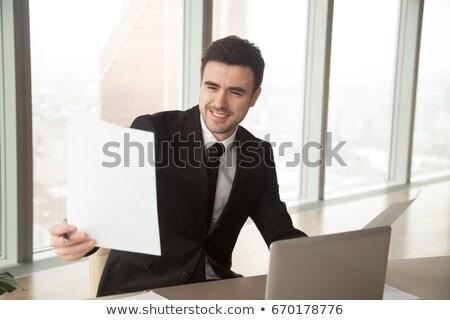 Boldog üzletember elégedett jómódú üzlet növekedés Stock fotó © lichtmeister
