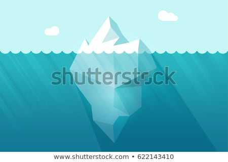 glacier iceberg floating on sea water waves vector stock photo © pikepicture