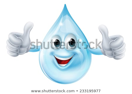 Happy Water Drop Character Giving A Thumb Up Stock photo © hittoon
