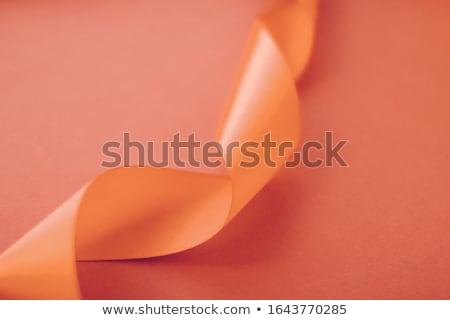 Abstract gekruld zijde lint oranje exclusief Stockfoto © Anneleven