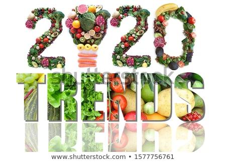 Voedsel gezondheid trends vruchten groenten gloeilamp Stockfoto © unikpix
