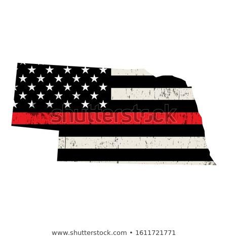 Nebraska bombeiro apoiar bandeira ilustração bandeira americana Foto stock © enterlinedesign