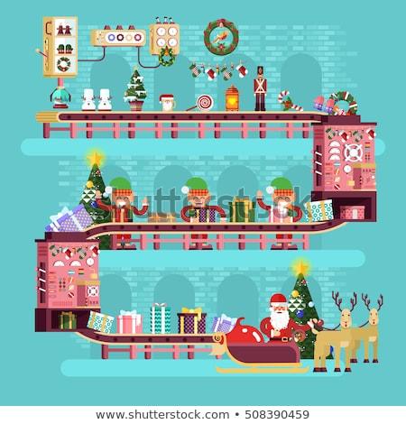 サンタクロース パック 贈り物 クリスマス 実例 男 ストックフォト © jossdiim