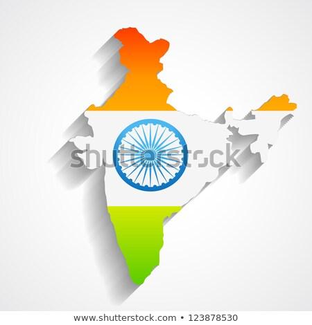 地図 インド トリコロール 波 波 国 ストックフォト © SArts