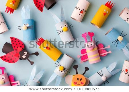 Handcraft colorful paper background. Stock photo © artjazz