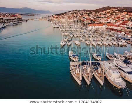 Porta marina Croácia ver aldeia edifício Foto stock © borisb17