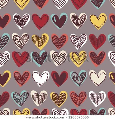 бесшовный любви шаблон вектора текстуры Сток-фото © ukasz_hampel