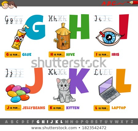 letter J worksheet with cartoon jellybeans Stock photo © izakowski