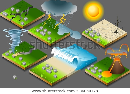 Natural disaster vector concept metaphors Stock photo © RAStudio