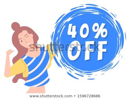 40 negyven százalék el legjobb ár árengedmény Stock fotó © robuart