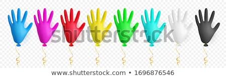 реалистичный красочный медицинской латекс перчатка шаре Сток-фото © olehsvetiukha