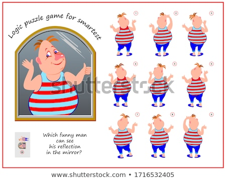 Man Looking at Book Pages and Thinking Vector Stock photo © robuart