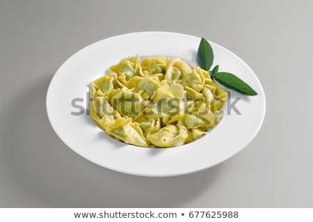 Tortellini Butter Salbei grünen italienisch Stock foto © Francesco83